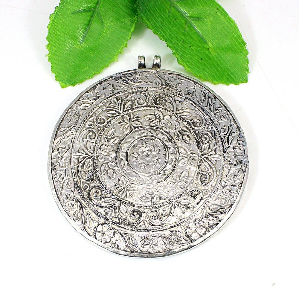 Lovely Couple Radha Krishna Miniature Art Handcrafted Silver Pendant