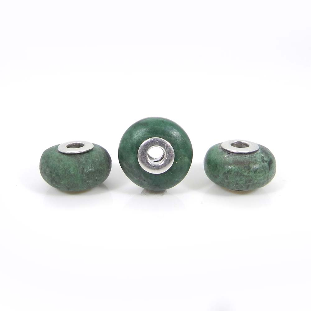 Maw Sit Sit Roundel Smooth Big Hole Silver Core Beads For Jewelry Making