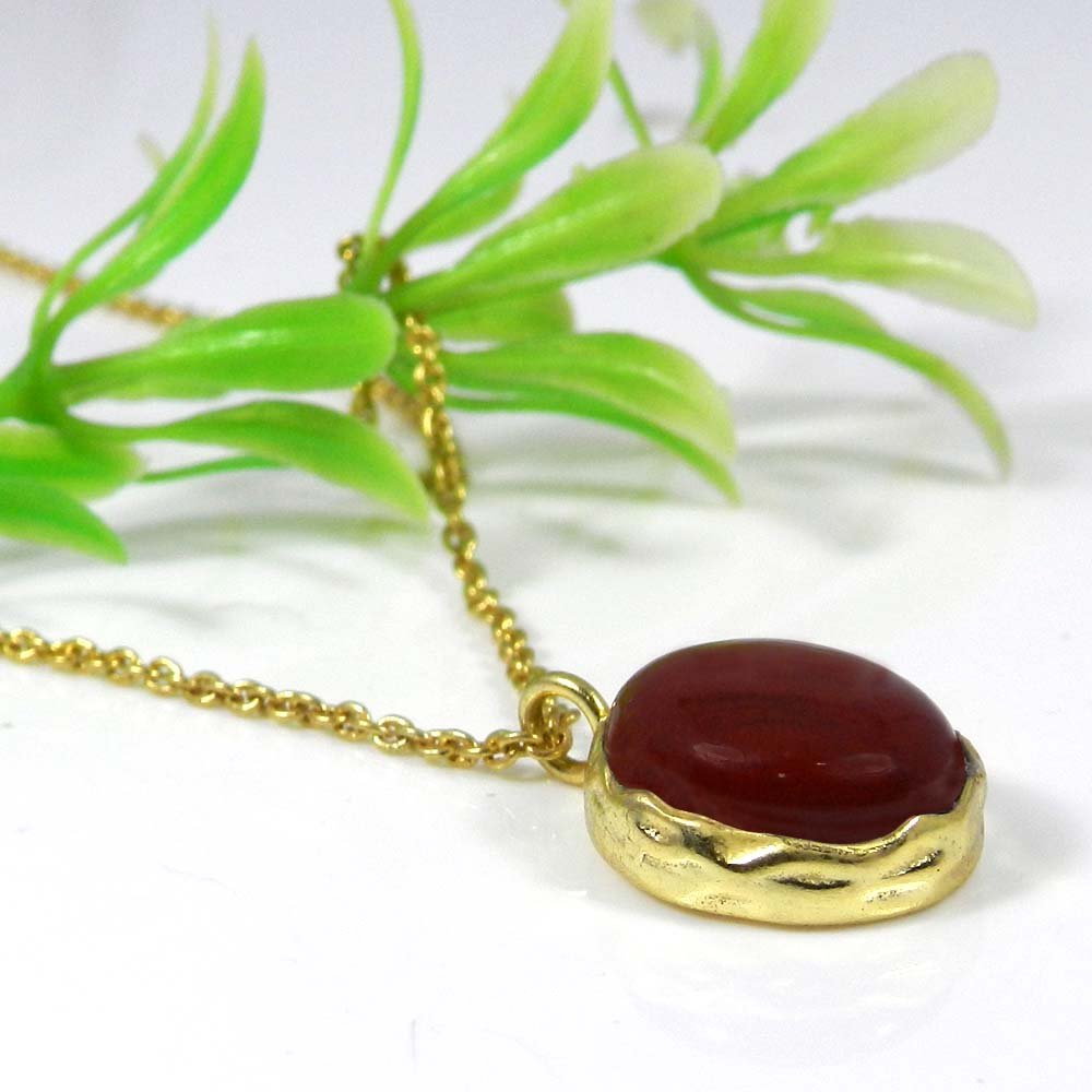 Mega Natural Gemstone Gold Plated Long Chain Necklace