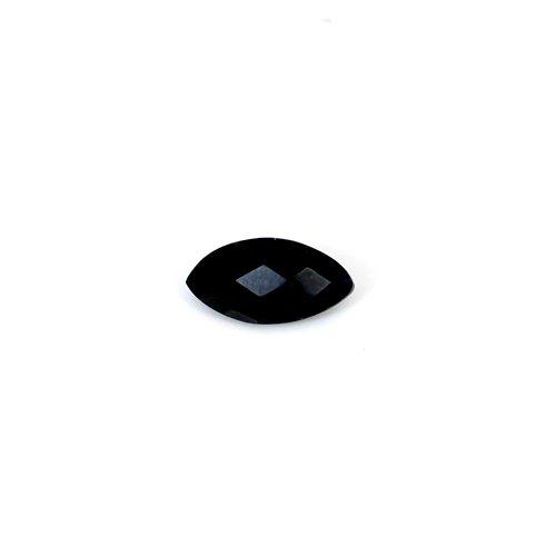 Most Elegant Natural Black Onyx 16x8mm Marquise Checker 4.25 Cts Loose Gemstone