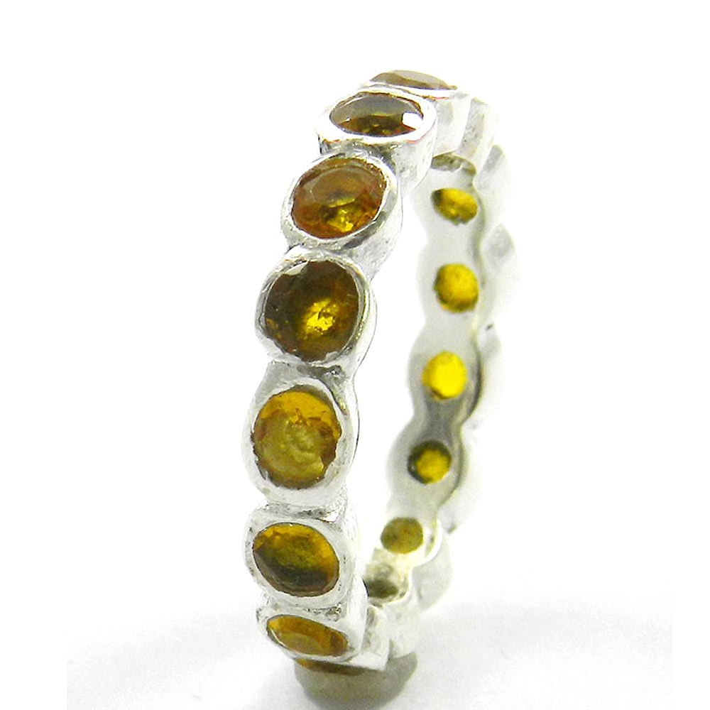Most Elegant Selling Solid 925 Sterling Silver Ring Citrine Hydro Gemstone Ring Women Eternity Ring Engagement Ring