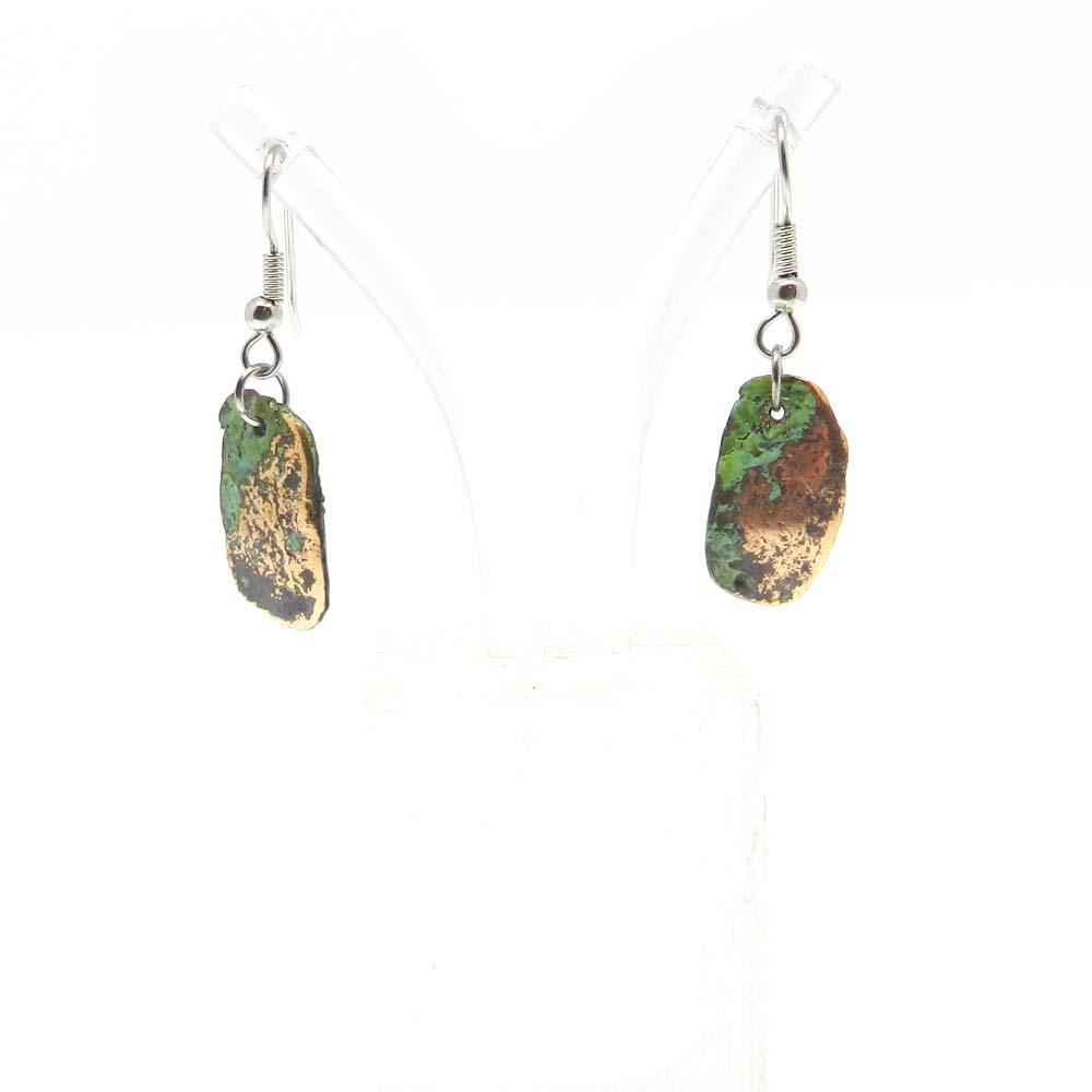 Native Copper Silver Plated Fancy Dangle Earring