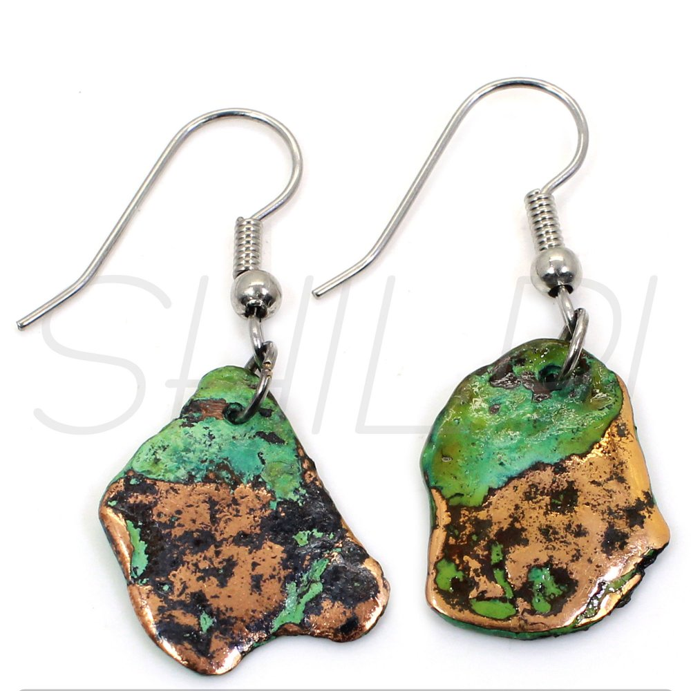 Native Copper Silver Plated Fancy Handcrafted Earring