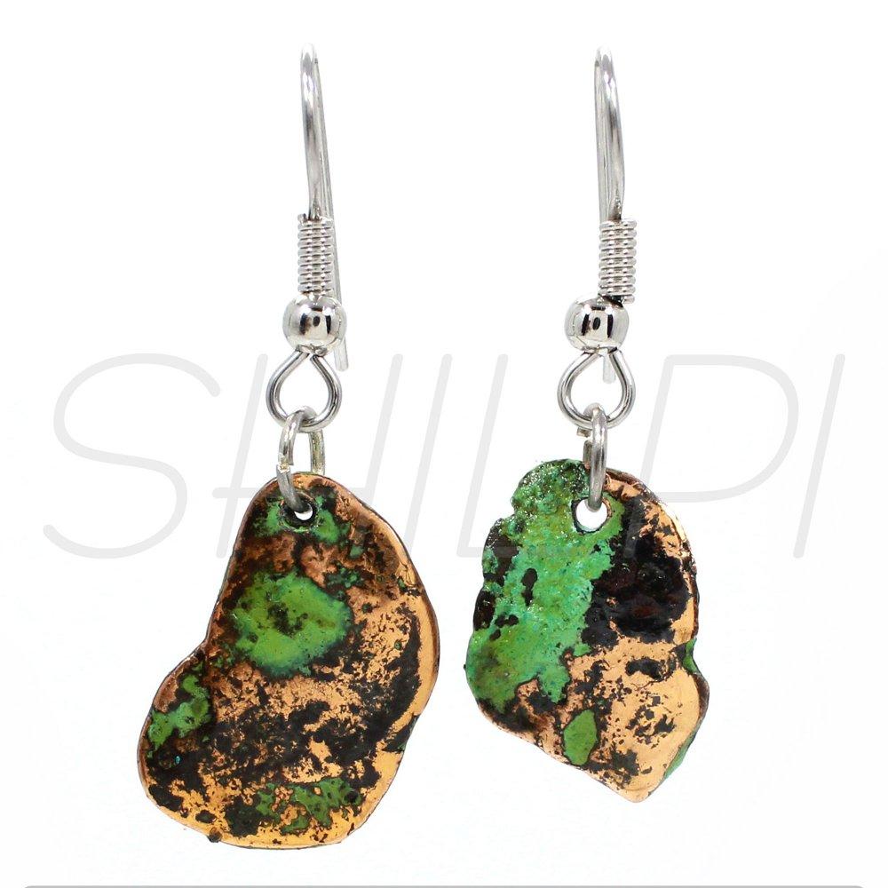 Native Copper Silver Plated Fancy Handmade Dangle Earring
