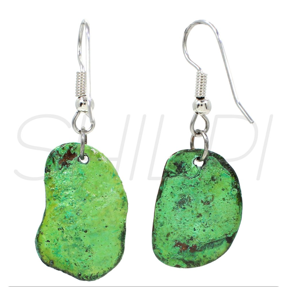 Native Copper Silver Plated Fashion Jewelry Dangle Earring