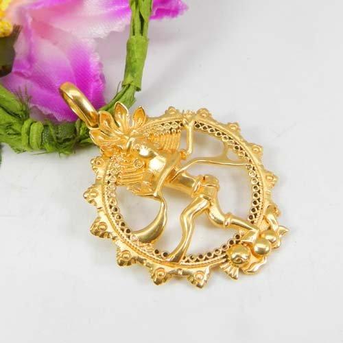 Natraj Designer Gold Plated Handcrafted Pendant