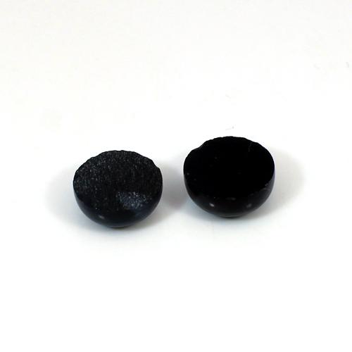 Natural Black Onyx 12.4 Cts Round Cabochon 12x12mm 1 Pair Loose Gemstone