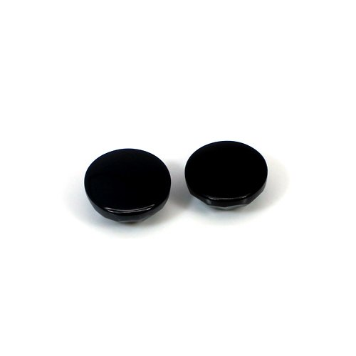 Natural Black Onyx 12.4 Cts Round Checker Cut 12x12mm Loose Gemstone