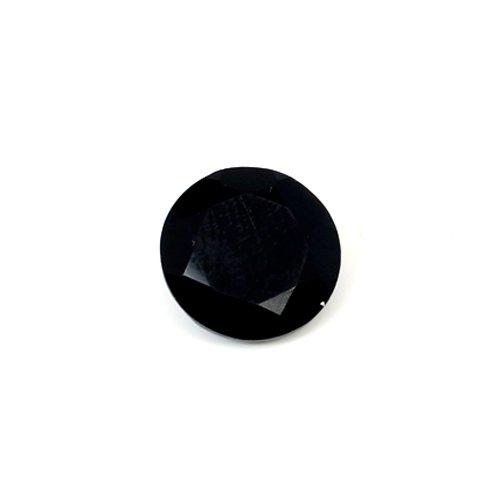 Natural Black Onyx 5.80 Cts Round Cut 13x13mm Loose Gemstone