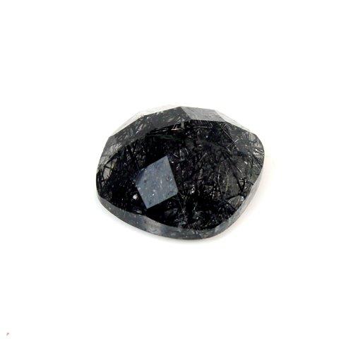 Natural Black Rutile Cushion Checker 12x12mm 5.7cts Loose Gemstone