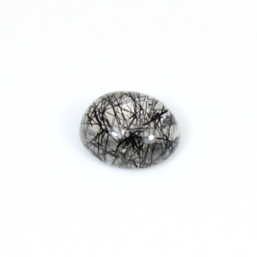 Natural Black Rutile Oval Cabochon 10x8mm 2.8cts Loose Gemstone