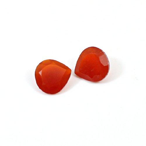 Natural Carnelian 1 Pair 10mm Heart Cut 5.20 Cts Loose Gemstone
