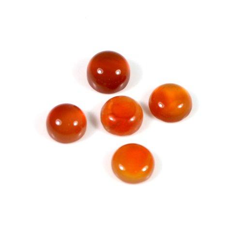 Natural Carnelian Gemstone 2 Cts 7mm Round Cabochon Healing Gemstone