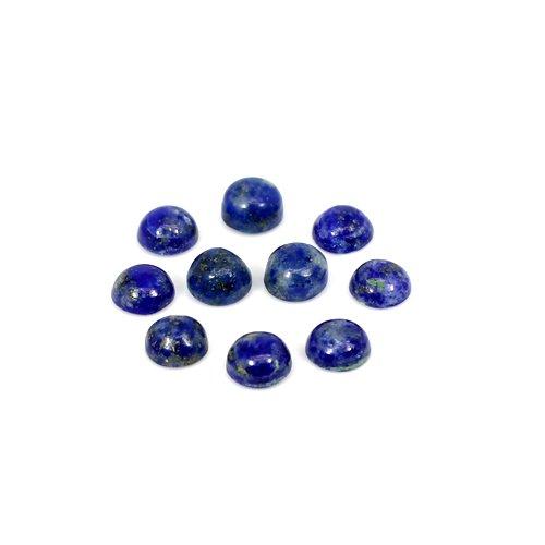 Natural Lapis Lazuli Round Cabochon 10 Pcs Lot 6.60 Cts 5mm Loose Gemstone