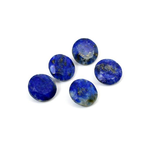 Natural Lapis Lazuli Round Cut 13.40 Cts 9mm 5 Pcs Lot Loose Gemstone