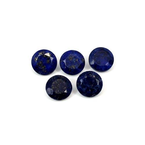 Natural Lapis Lazuli Round Cut 5 Pcs Lot 7x7mm 7.35 Cts Loose Gemstone