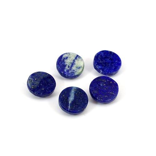 Natural Lapis Lazuli Round Rose Cut 5 Pcs Lot 8mm 10.50 Cts Loose Gemstone