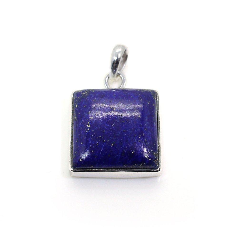 Natural Lapis Lazuli Silver Pendant