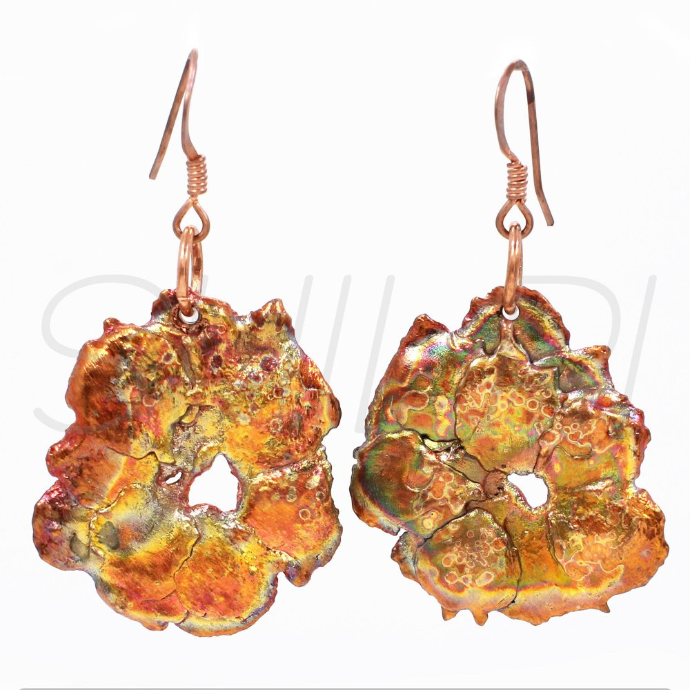 Natural Native Copper Fancy Handcrafted Dangle Earring