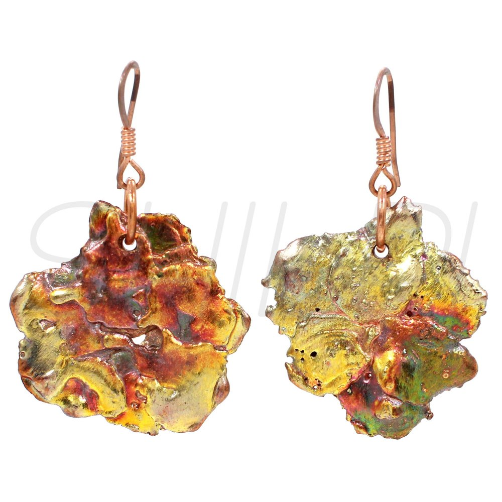 Natural Native Copper Fancy Handmade Dangle Earring