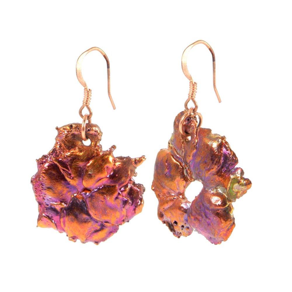 Natural Native Copper Fashion Jewelry Dangle Earring