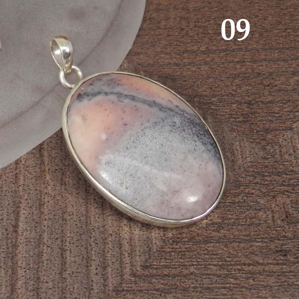 Natural Porcelain Jasper 925 Sterling Silver Designer Bezel Set Pendant
