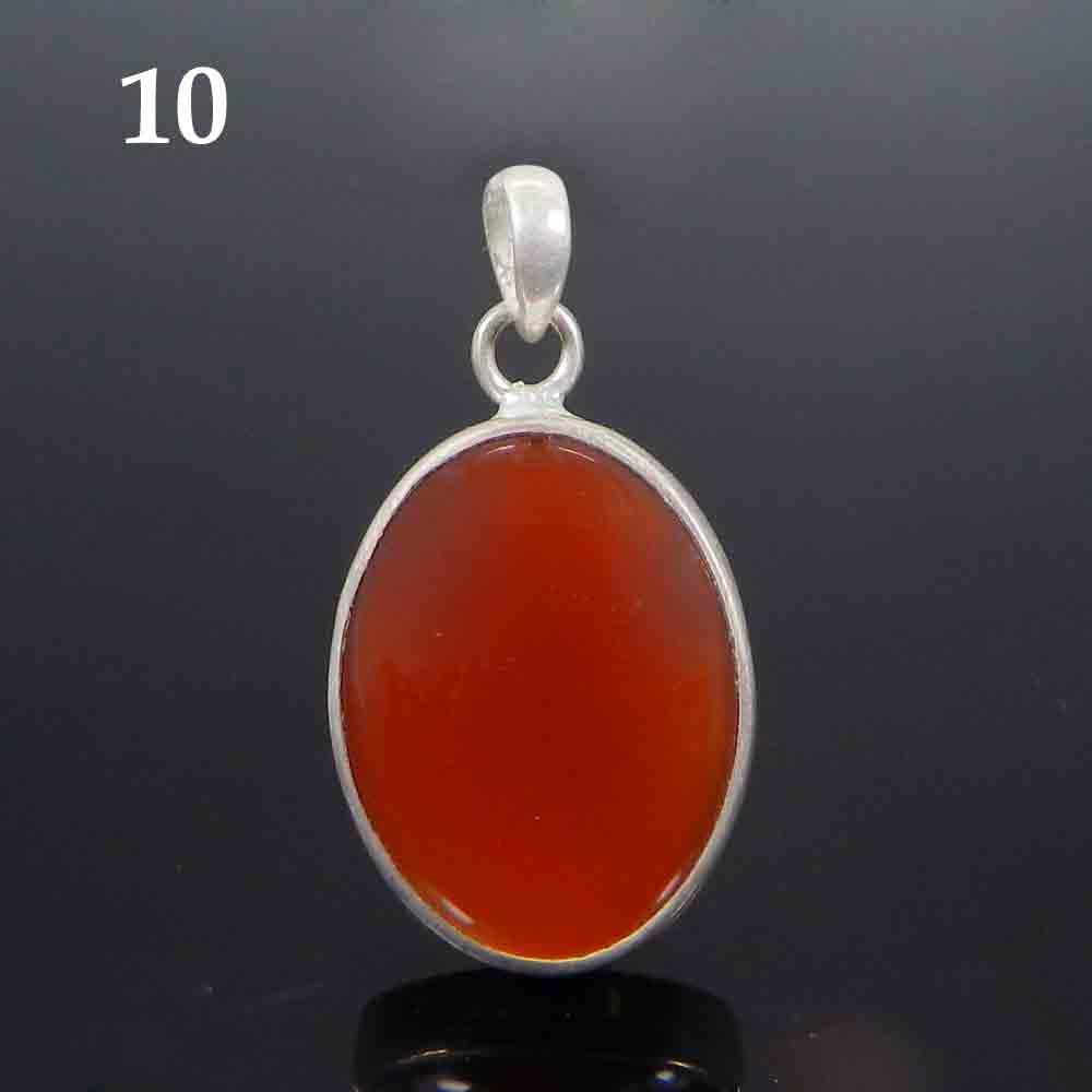 Natural Red Onyx 925 Sterling Silver Designer Bezel Set Pendant