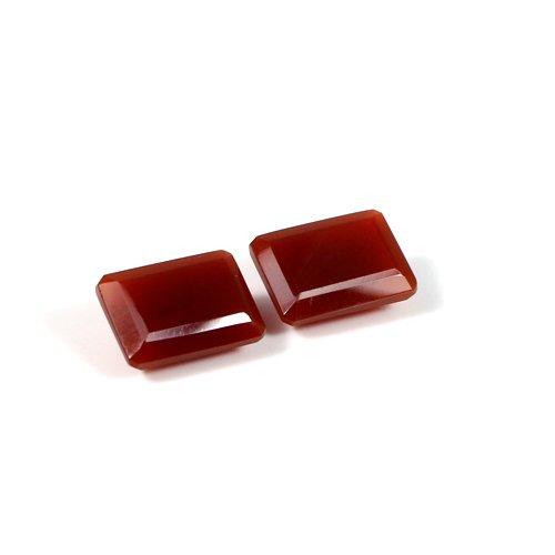Natural Red Onyx Gemstone Octagon Cut 1 Pair 12x10mm 10.65 Cts Loose Gemstone