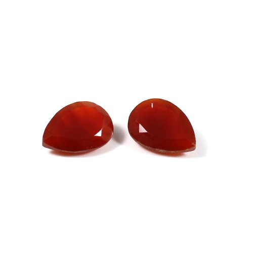 Natural Red Onyx Gemstone Pear Faceted 14x10mm 8.60 Cts 1 Pair Loose Gemstone