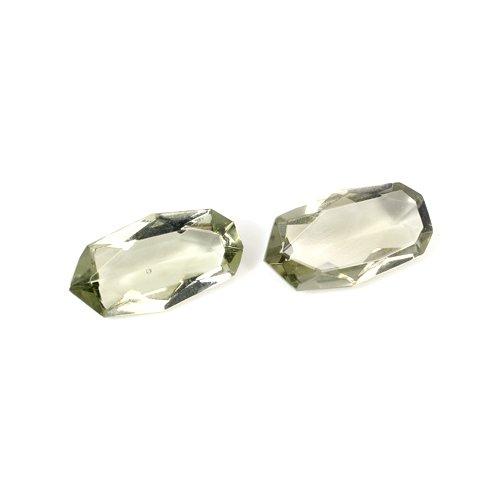 Natural Smoky Quartz 13.80 Cts Fancy Cut 1 Pair 18x10mm Loose Gemstone