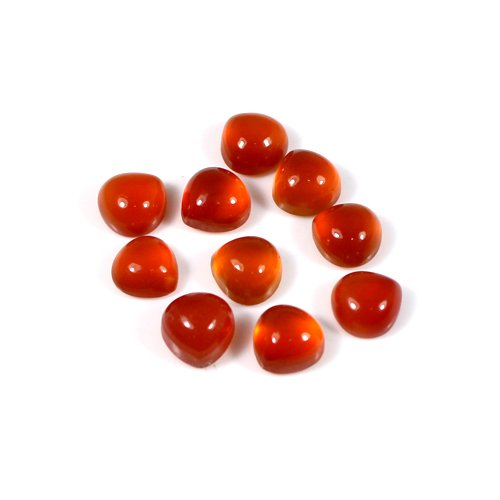 New Arrival Natural Carnelian Gemstone Pear Cabochon 1.30 Cts 6x6mm