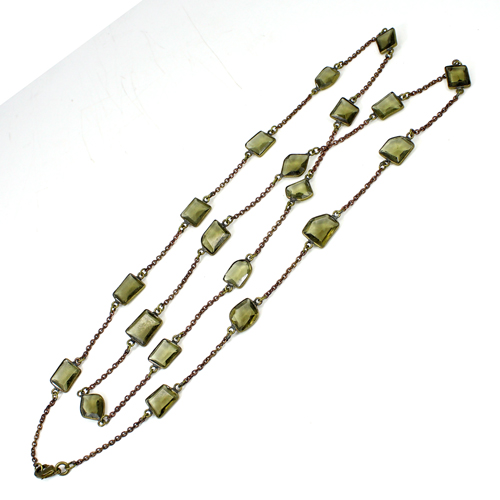 New Arrival Smoky Hydro Gemstone Necklace Brass Vermeil Necklace Women Cocktail Jewelry Christmas Thanksgiving Gift For Her