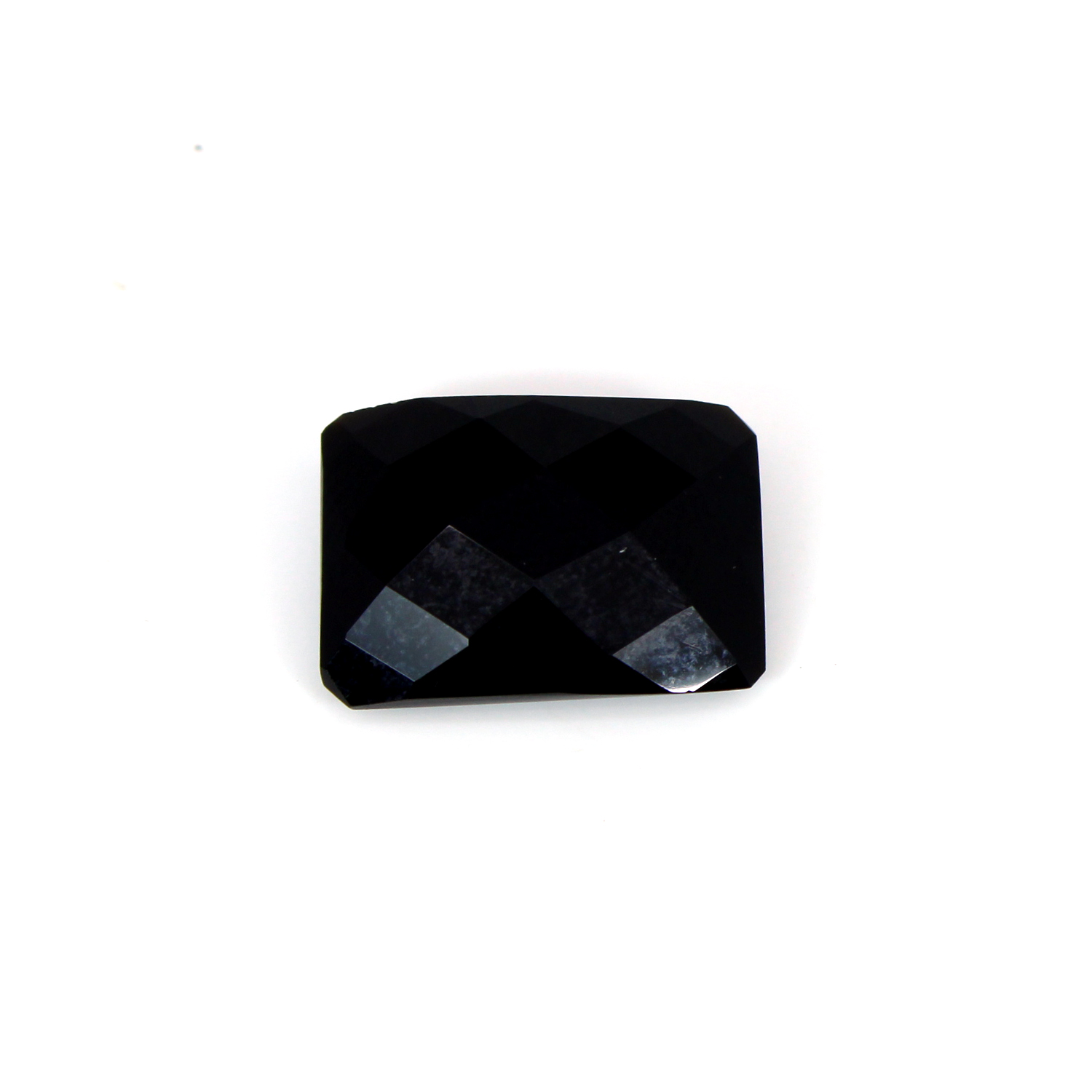 Newest Collection Natural Black Onyx Octagon Checker Cut 18x13mm 21.9 Cts Loose Gemstone For Jewelry Making