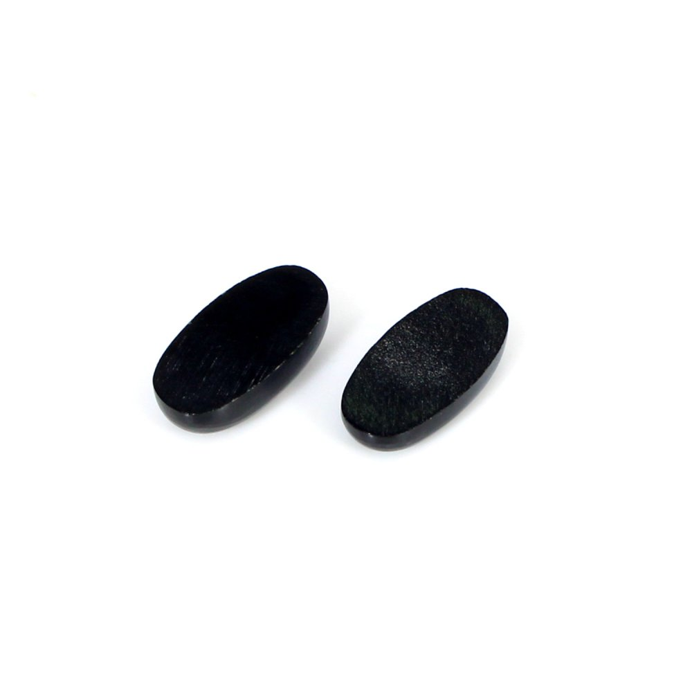 Newest Selling Natural Black Onyx 14x7mm Oval Cabochon 1 Pair 7.5 Cts Loose Gemstone