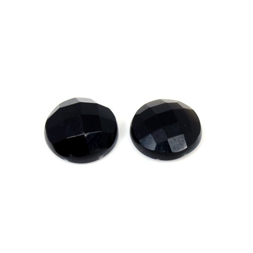 Newest Selling Natural Black Onyx 6.6 Cts Round Checker Cut 10x10mm Loose Gemstone