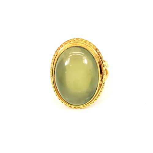 Newest Selling Natural Lemon Quartz Gemstone Ring Oval Cabochon Rings Brass Gold Plated Rings Birthday Gift For Him Promise Ring