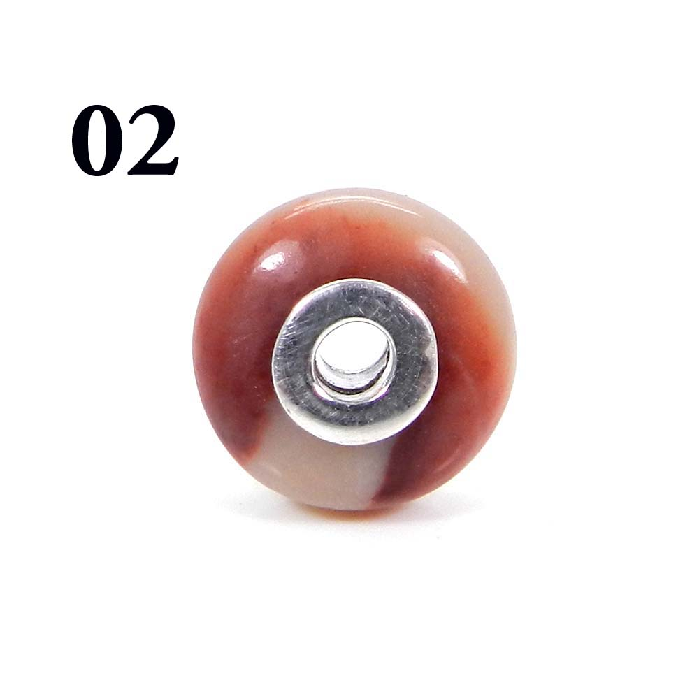 Noreena Jasper Roundel Smooth Big Hole Silver Core Beads For Necklace Making