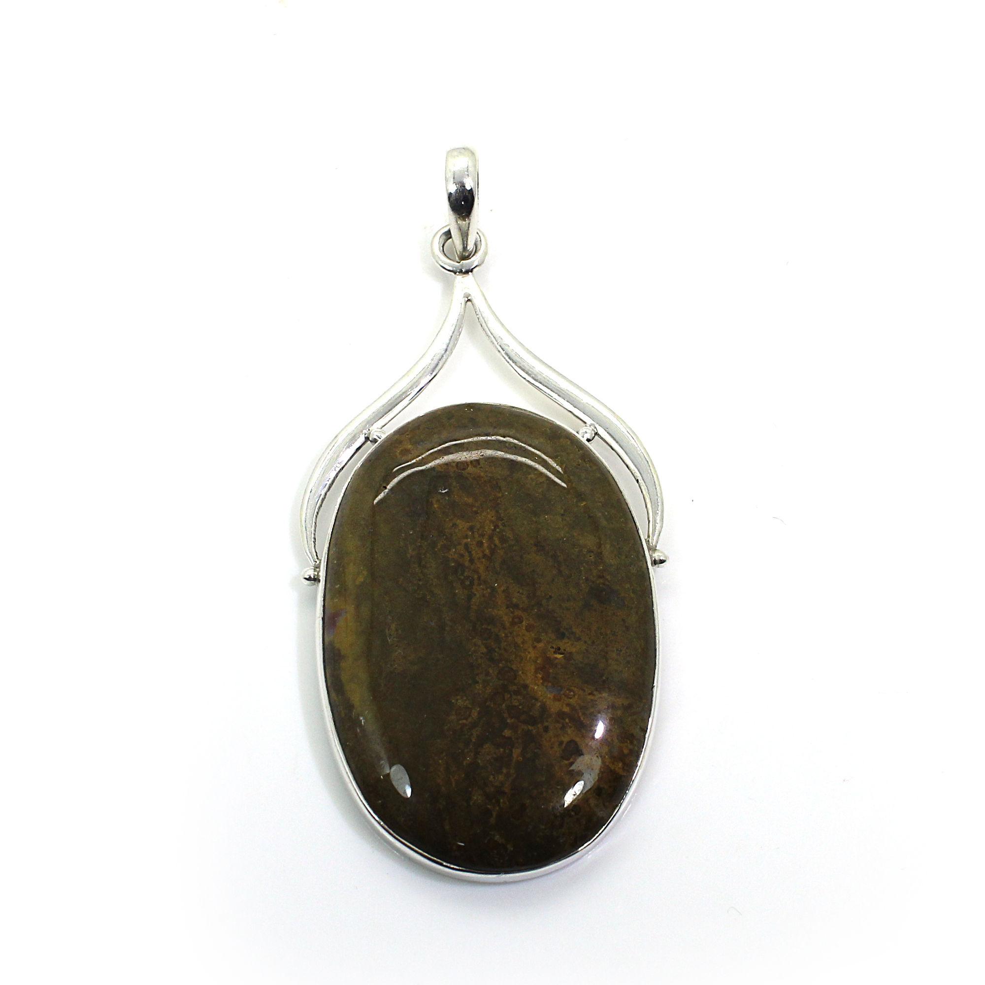 Ocean Jasper Sterling Silver Pendant