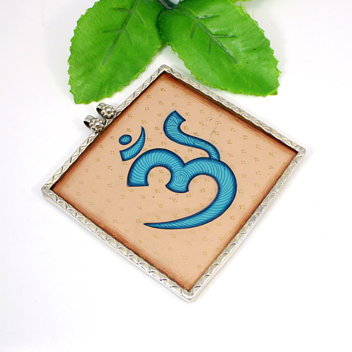 OM Pendant Solid 925 Sterling Silver Jewelry Religious Designer Traditional Pendant Healing Spiritual Pendant Boho Jewelry