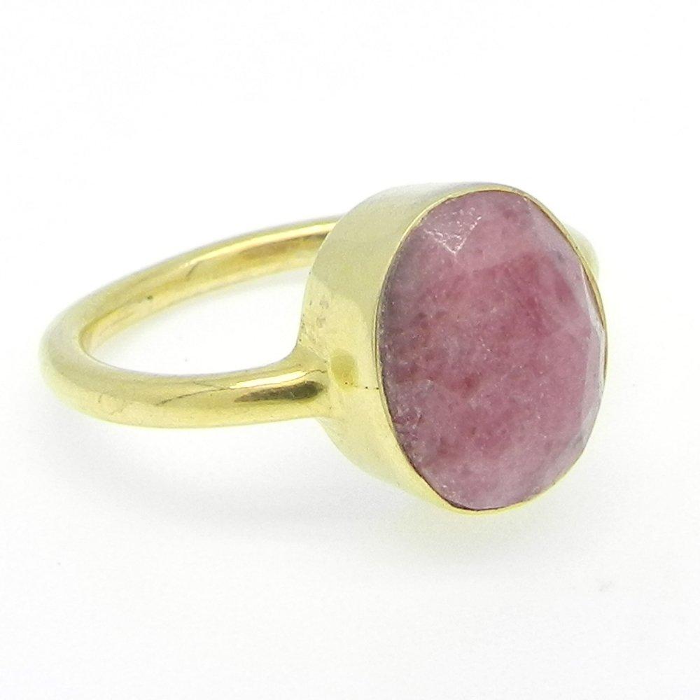 Pedro Syn. Ruby Gemstone Silver Bezel Set Ring