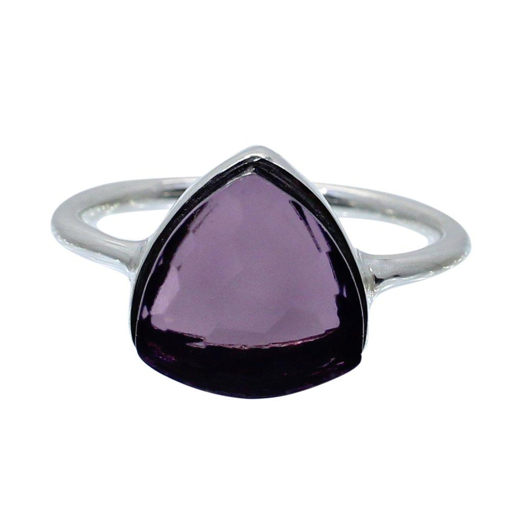 Pink Amethyst Hydro 925 Sterling Silver Handmade Bezel Set Ring