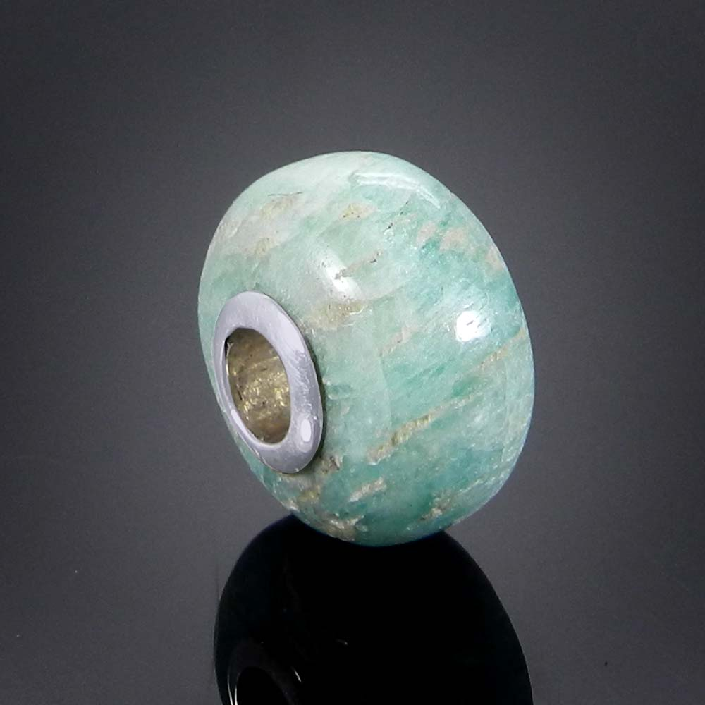 Purple mohave turquoise big hole silver core beads for Jewelry making