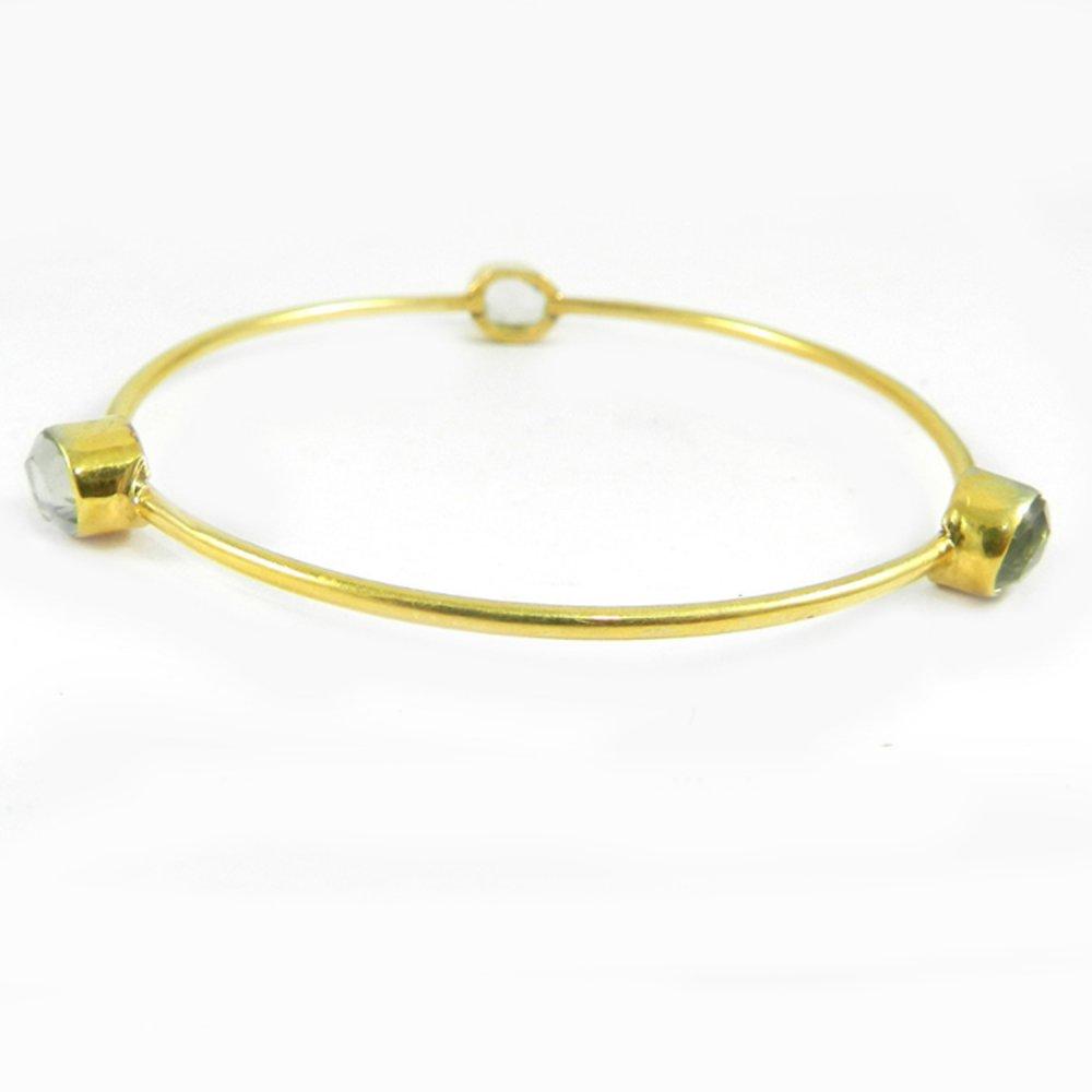 Regina Opalite Hydro Gold Plated Designer Bezel Bangle