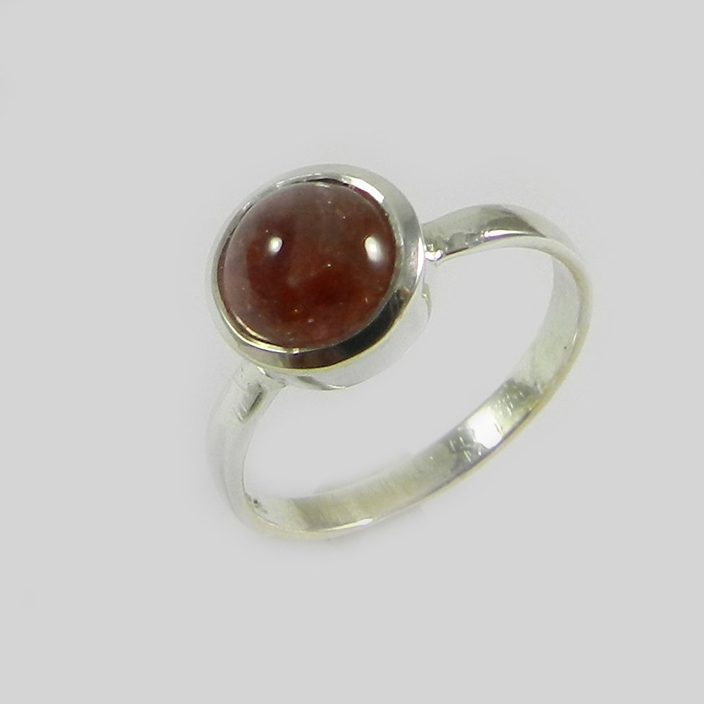 Rosie Honey Color Tourmaline Silver Ring