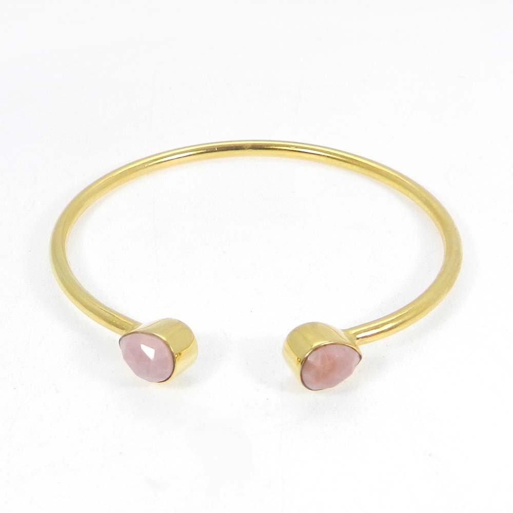 Sabrina Gemstones pear gold plated adjustable bracelet