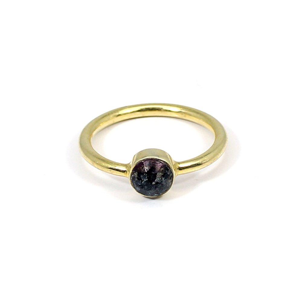 Solid 925 Sterling Silver Ring Vivianite Gemstone Ring Solid 925 Sterling Silver Ring Minimalist Dainty Ring Tiny Ring