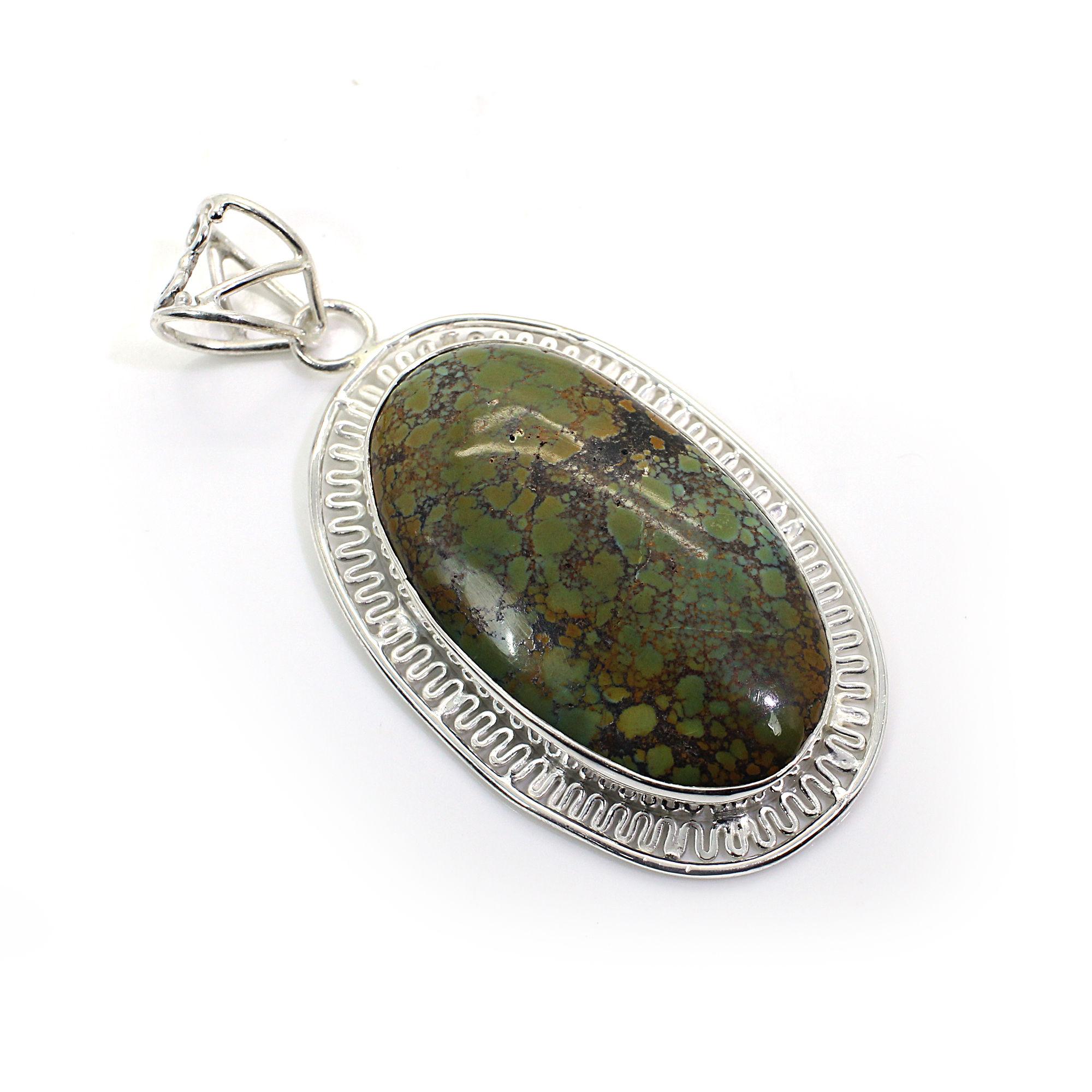 Tibetan Turquoise Silver Pendant