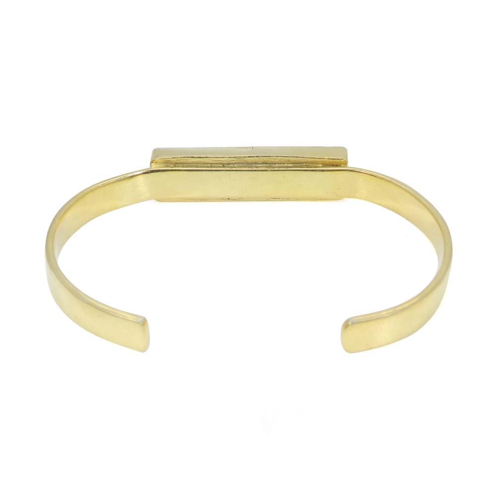 Tiffany Jasper 925 Sterling Silver Gold Plated Adjustable Cuff Bracelet