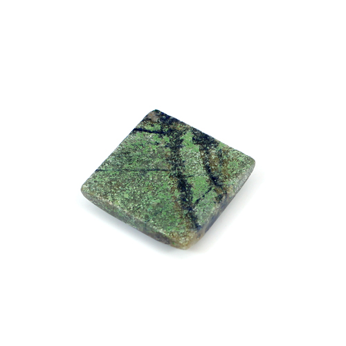 Top Quality Natural Cyber Web Chrysocolla 17.75 Cts Square Cabochon 19x19mm Loose Gemstone