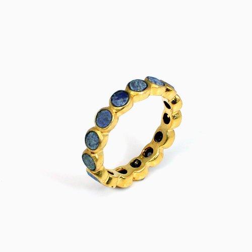Trendy Collection Lapis Lazuli Gemstone Ring Eternity Rings Designer Engagement Ring